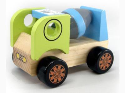 A wooden cement truck toy; photo courtesy Allira Newlands