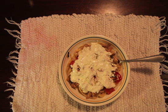 Chicken in cream sauce; photo © 2012 Kelly Smith