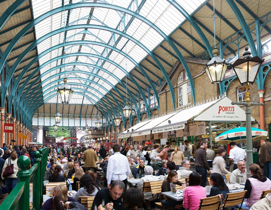 Interior of Covent Garden, London; photo courtesy Diliff