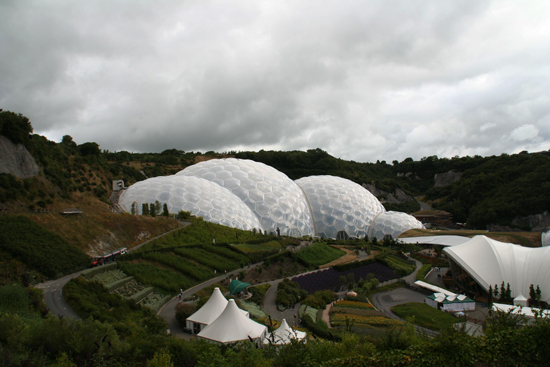 ETFE roofs at the Eden Project; photo courtesy Mistermoe