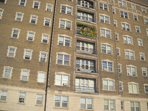 Gardening on an apartment balcony; photo courtesy Shamanic Shift
