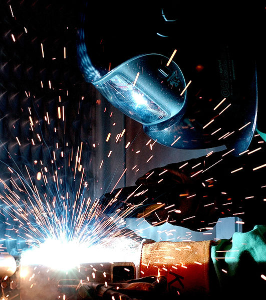 Gas metal arc welding; photo courtesy US Air Force