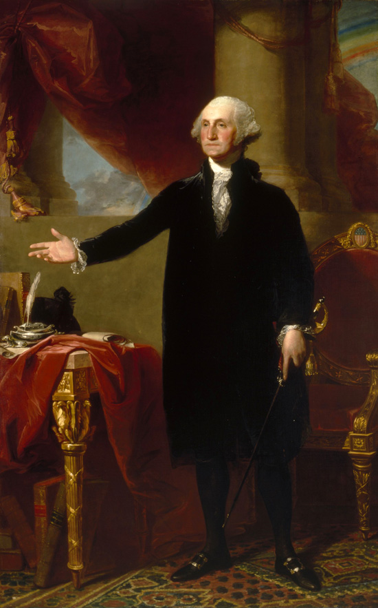 The George Washington Lansdowne portrait; photo courtesy National Portrait Gallery, Smithsonian Institution