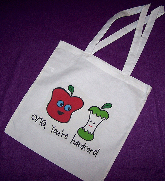 A grocery tote bag; photo courtesy Michelle Rebecca