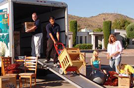 Loading a moving van; photo courtesy Kandace Heller