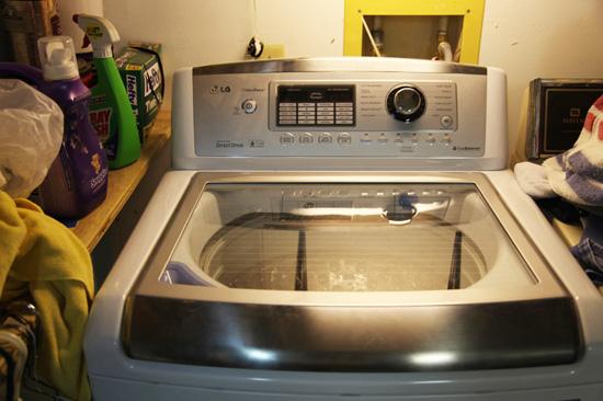 LG high efficiency washing machine; photo courtesy Kelly Smith