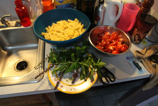 Ingredients for Mac and Cheese; photo courtesy Vicki Riviera