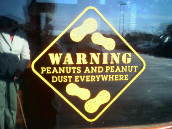 Peanut allergies are common; photo courtesy Dan4th Nicholas