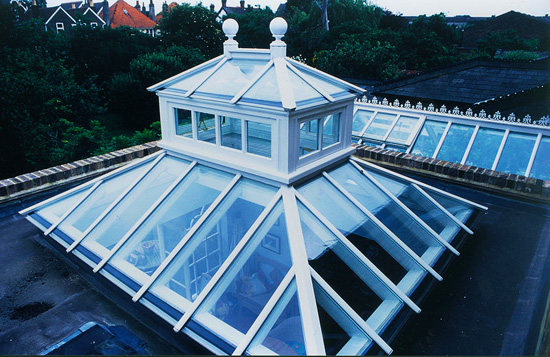 A contemporary roof lantern; photo courtesy EnglishGlassman