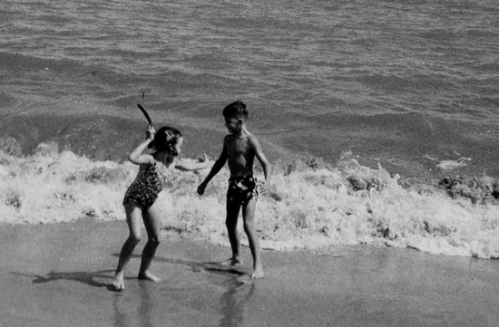Siblings enjoying the beach; photo courtesy Kelly Smith