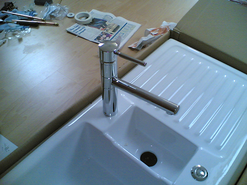 An odd looking sink; photo courtesy M_at