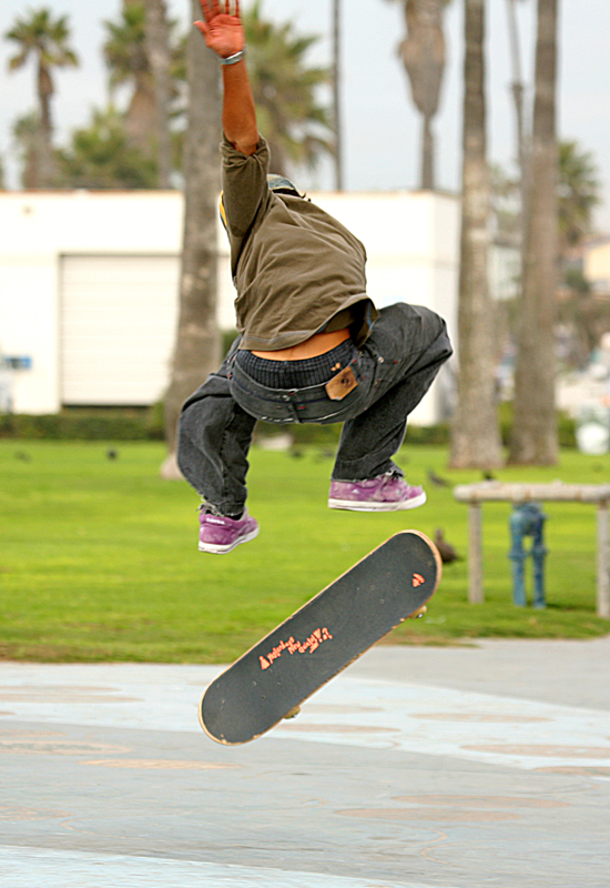 Skateboarder in the air; photo courtesy Bengt Nyman