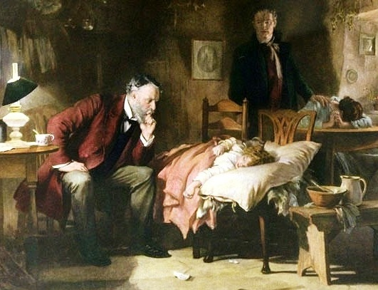 This painting is The Doctor; by artist Luke Fildes