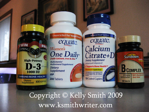 Vitamin supplements are vital for good health; photo courtesy Kelly Smith