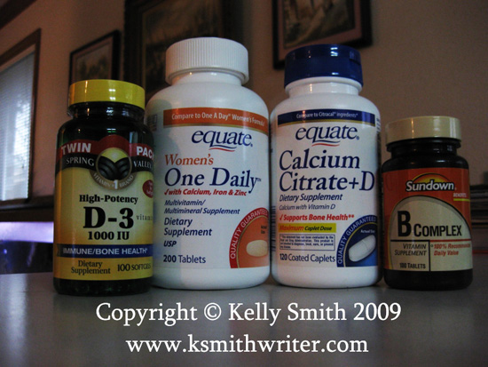 Vitamin supplements are important for good health; photo courtesy Kelly Smith
