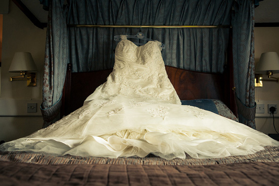Elegant white wedding dress; image courtesy Nathan O'Nions